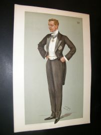 Vanity Fair Print 1899 Earl Beauchamp, New South Wales Gov. Australia